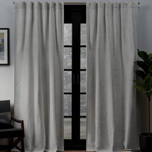 96X52 gray blackout curtains (2 panels)